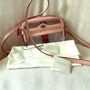 New authentic Gucci pink crossbody bag